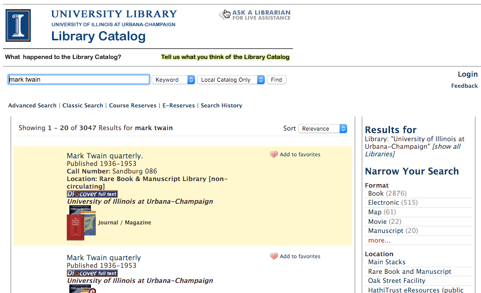 VuFind Library Catalog